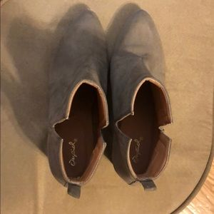 Suede booties tan colored size 8